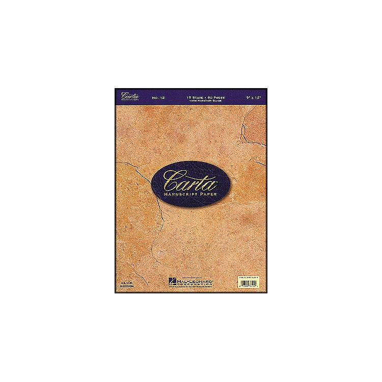 Hal Leonard Carta Manuscript Paper # 12 - Writing Pad, 9 X 12, 80 Pages, 10 Stave