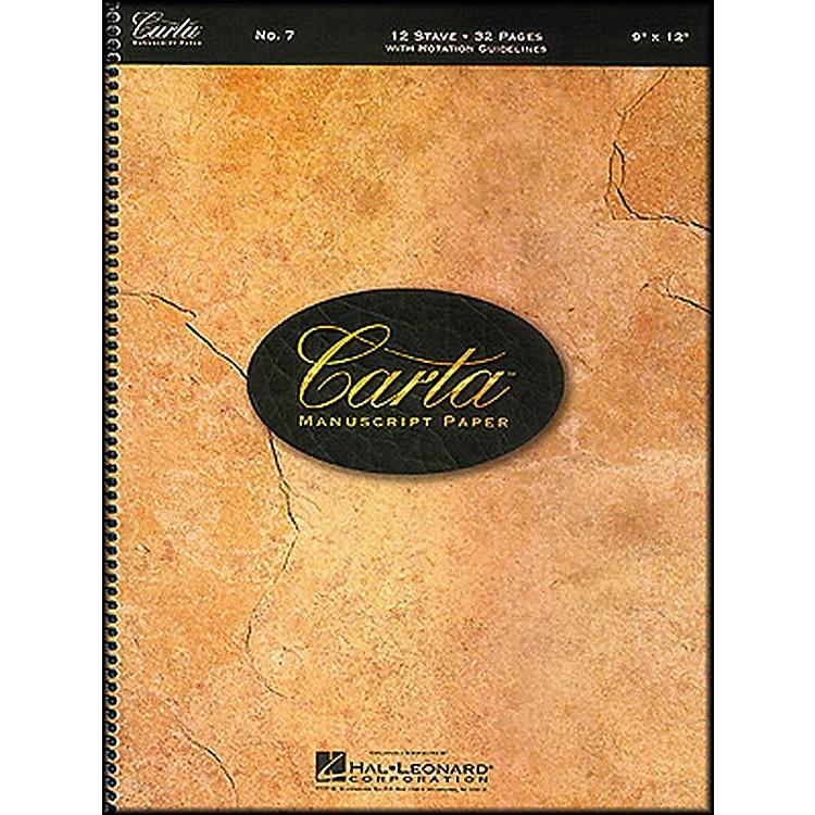 Hal LeonardCarta Manuscript Paper # 7 - Spiralbound, 9 X 12, 12 Stave, 32 Pages