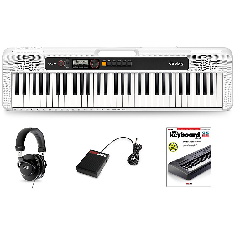 Casio Casiotone CT-S200 Keyboard Essentials Kit White