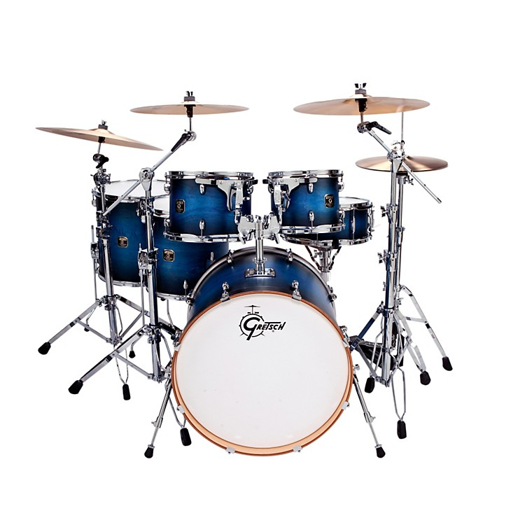 Gretsch Drums Catalina Maple 6-Piece Shell Pack Satin Blue Burst