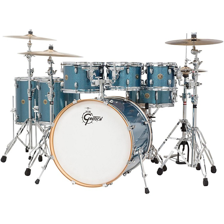 Gretsch Drums Catalina Maple 6-Piece Shell Pack with free 8 Tom Aqua Sparkle