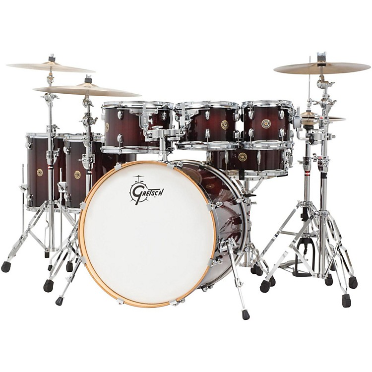 Gretsch DrumsCatalina Maple 6-Piece Shell Pack with free 8 TomDeep Cherry Burst