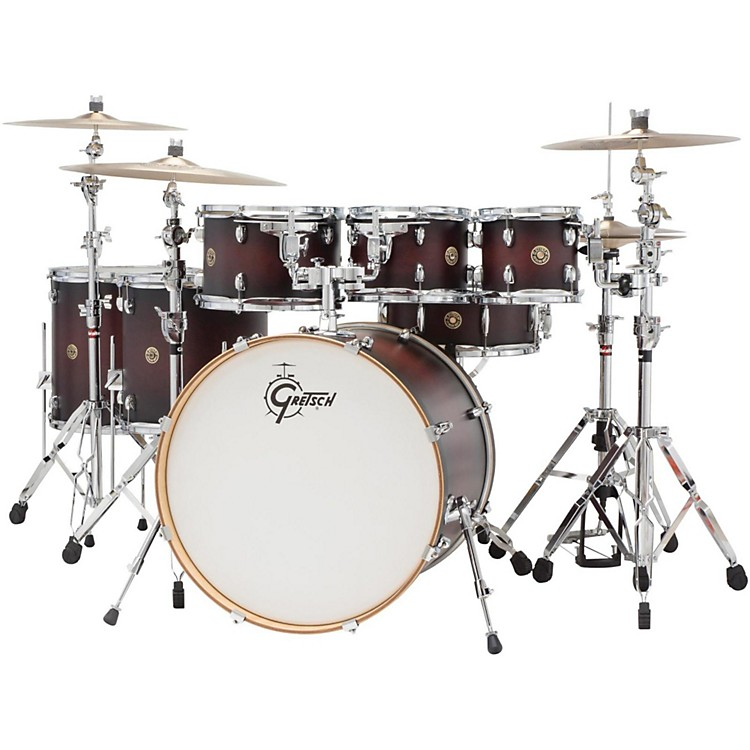Gretsch Drums Catalina Maple 6-Piece Shell Pack with free 8 Tom Satin Deep Cherry Burst
