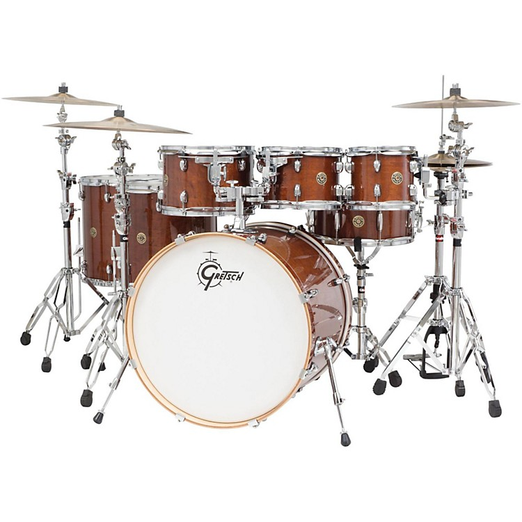 Gretsch Drums Catalina Maple 6-Piece Shell Pack with free 8 Tom Walnut Glaze