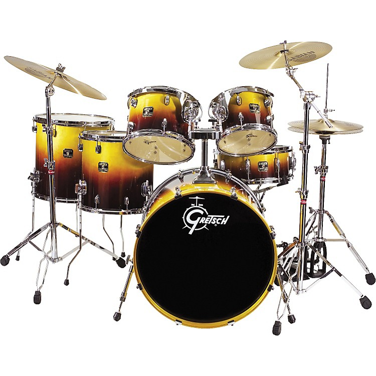 Gretsch drums catalina maple fusion shell pack with free for 16 floor tom drum