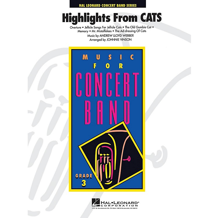 Hal LeonardCats, Highlights from - Young Concert Band Level 3 by Johnnie Vinson