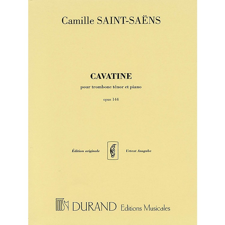 Editions DurandCavatine, Op. 144 (for Trombone and Piano) Editions Durand Series