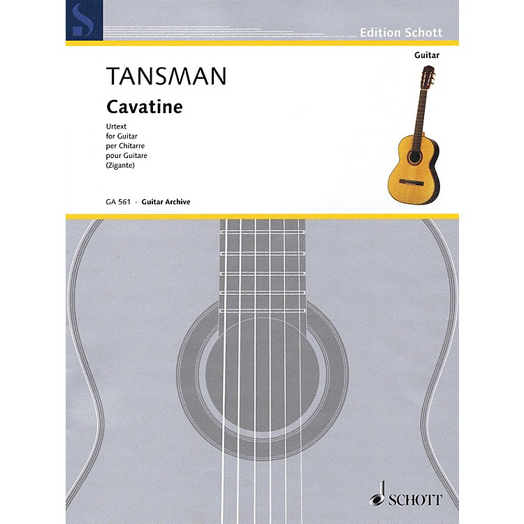 SchottCavatine (for Solo Guitar) Guitar Series Softcover