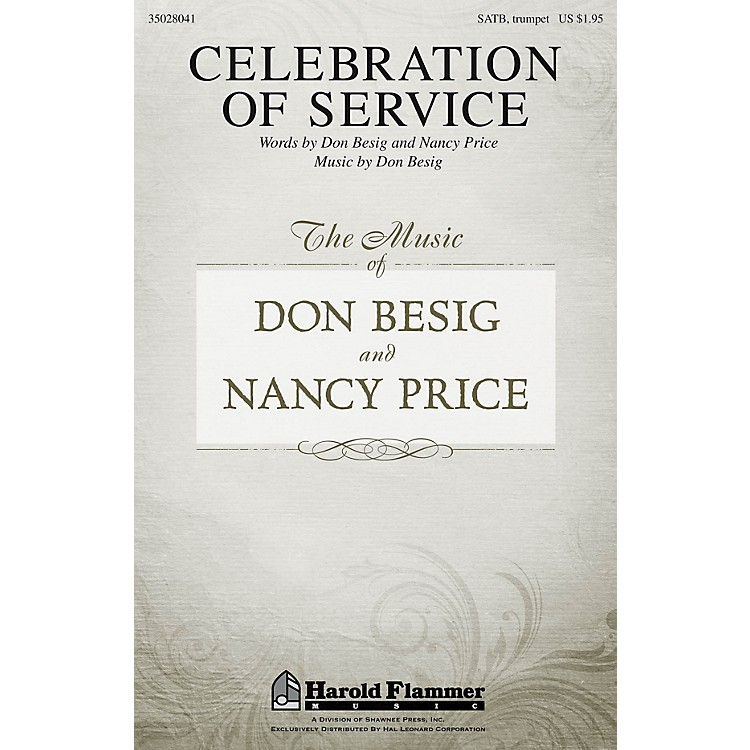 Shawnee Press Celebration of Service SATB composed by Don Besig