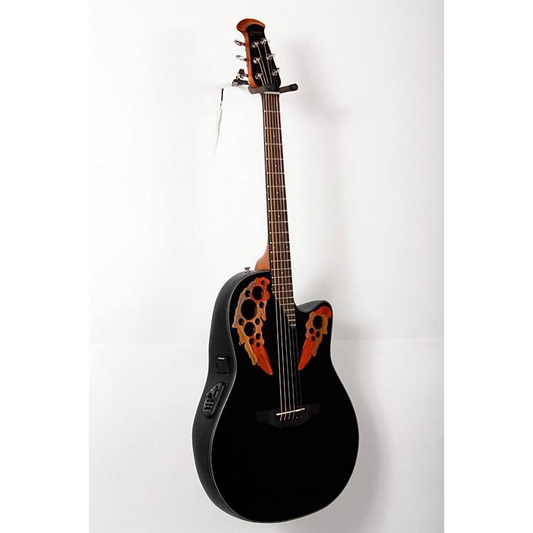 ovation celebrity elite acoustic electric guitar black 888365746203 music123. Black Bedroom Furniture Sets. Home Design Ideas