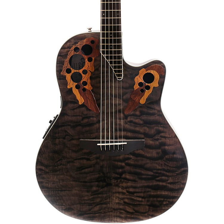 OvationCelebrity Elite Exotic Super Shallow Acoustic-Electric Guitar