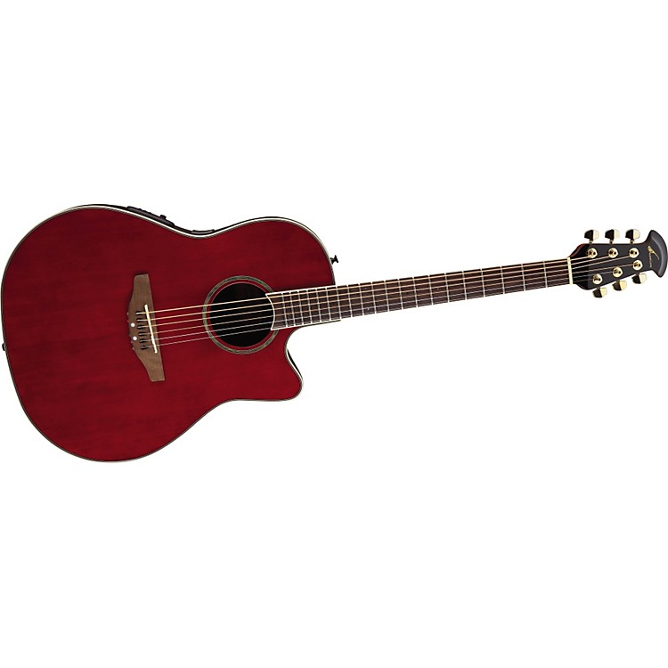 Ovation Celebrity SS Super Shallow Contour Acoustic-Electric Guitar Ruby Red