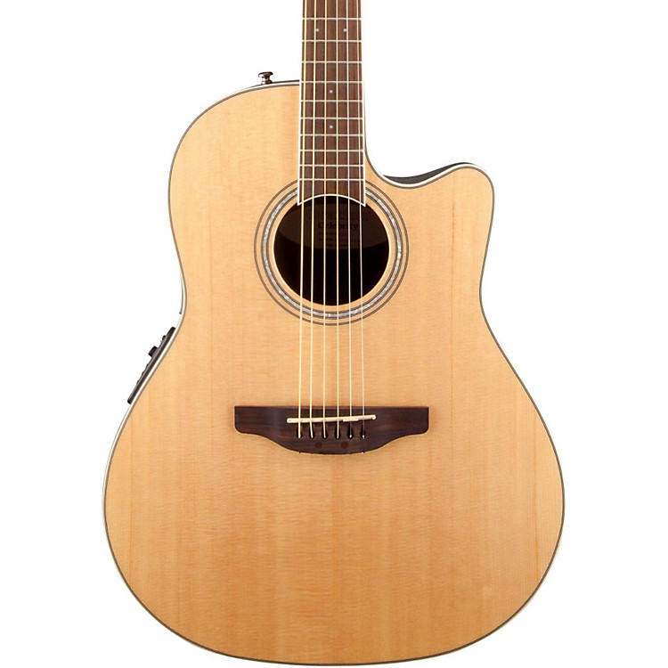 Ovation Celebrity Standard Mid-Depth Cutaway Acoustic-Electric Guitar Ruby Red 190839061911