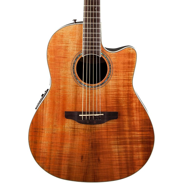 OvationCelebrity Standard Plus Mid Depth Cutaway Acoustic-Electric GuitarFigured Koa