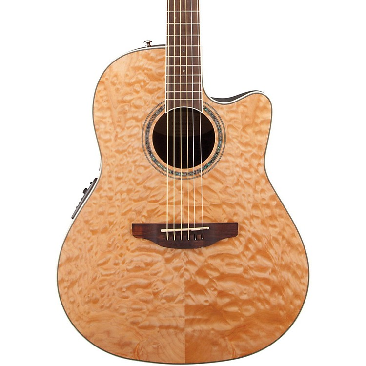 Ovation Celebrity Standard Plus Mid Depth Cutaway Acoustic-Electric Guitar Natural Quilted