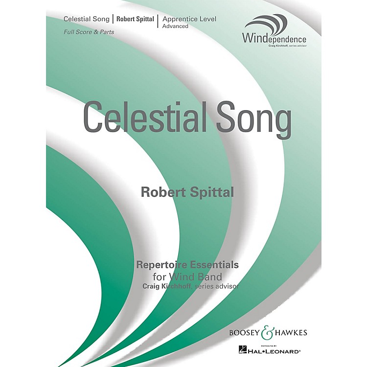 Boosey and HawkesCelestial Song (Score Only) Concert Band Level 3 Composed by Robert Spittal