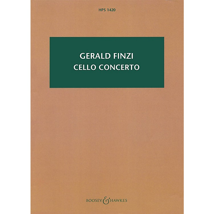 Boosey and Hawkes Cello Concerto (Revised 2009 Study Score) Boosey & Hawkes Scores/Books Series Softcover by Gerald Finzi