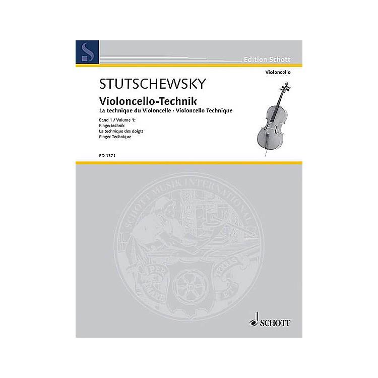 SchottCello Method - Volume 1 Finger Technique Schott Series