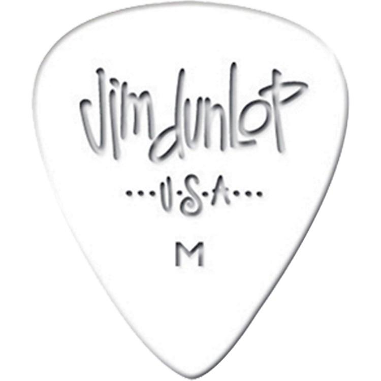 DunlopCelluloid Classic Guitar Picks 1 DozenWhiteMedium