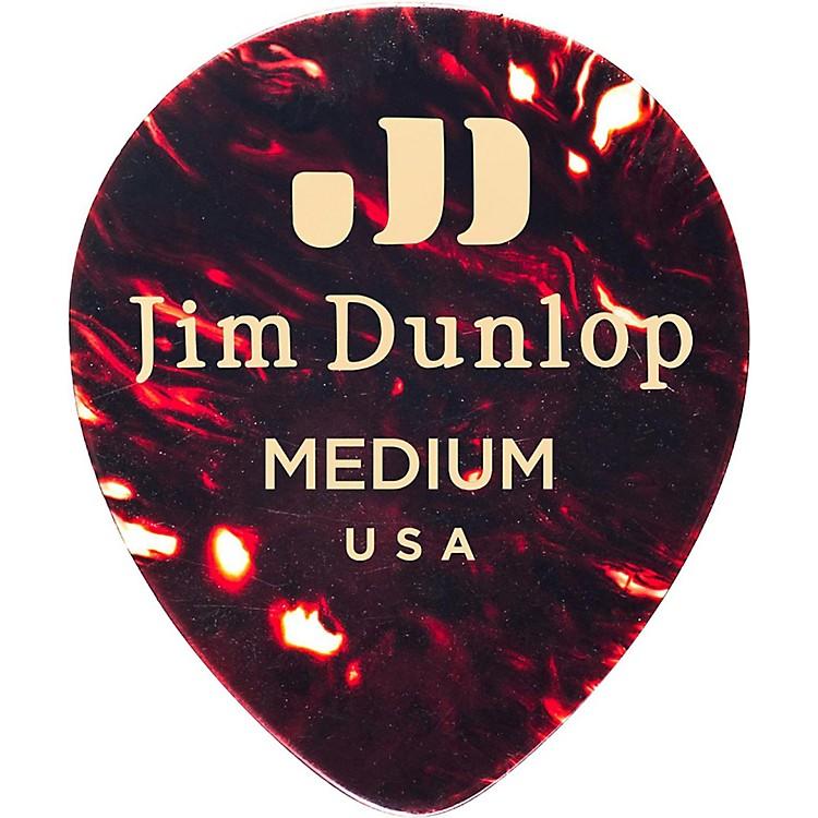 DunlopCelluloid Teardrop Guitar Picks, ShellThin12 Pack