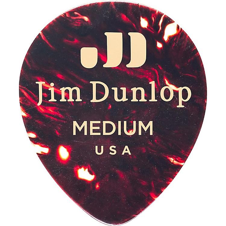 DunlopCelluloid Teardrop, Shell Guitar PicksThin72 Pack