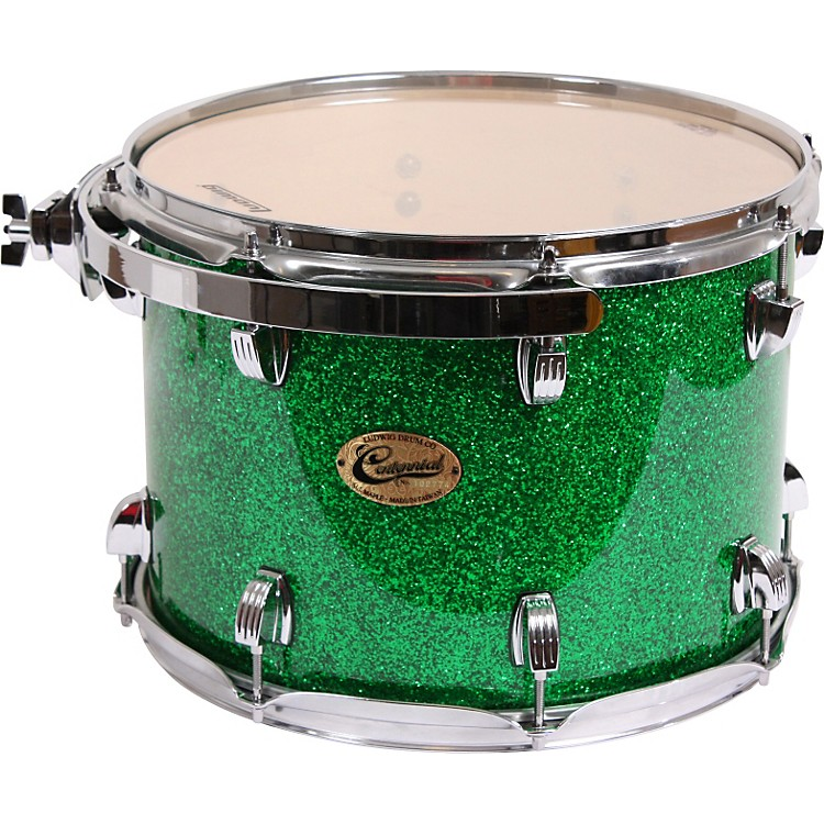 Ludwig Centennial Rack Tom Drum Green Sparkle 10X7.5