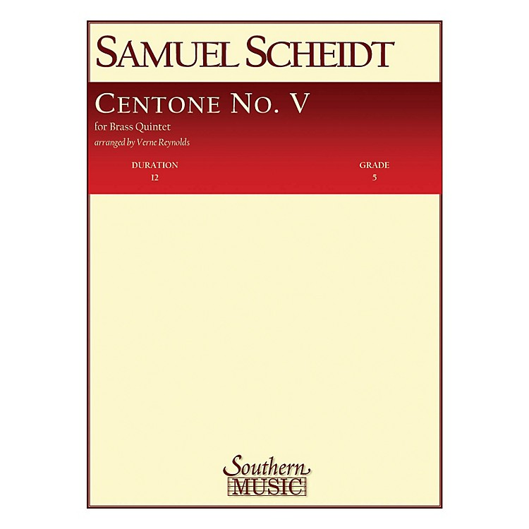 SouthernCentone No. 5 (Brass Quintet) Southern Music Series Arranged by Verne Reynolds