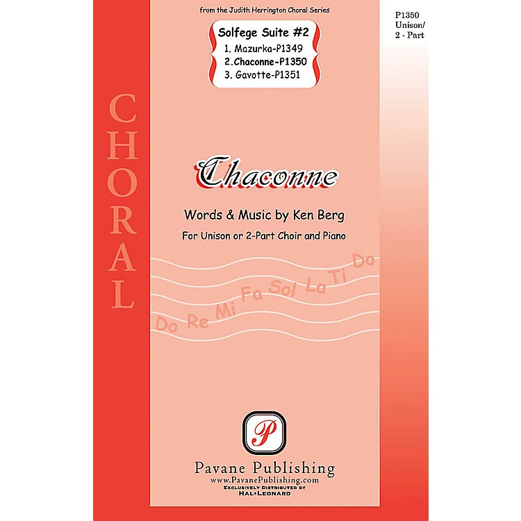 PavaneChaconne (from Solfege Suite #2) UNIS/2PT composed by Ken Berg