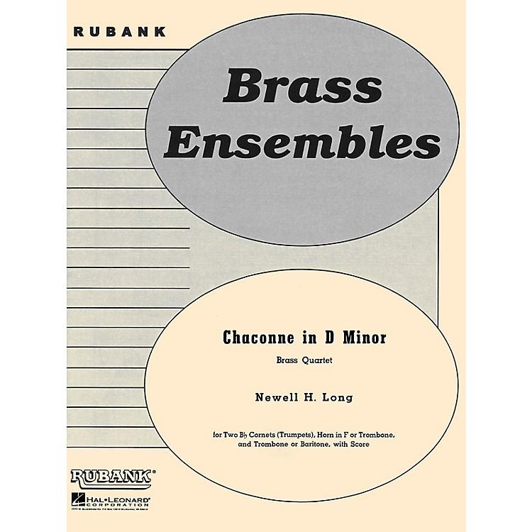 Rubank PublicationsChaconne in D Minor (Brass Quartet - Grade 4) Rubank Solo/Ensemble Sheet Series