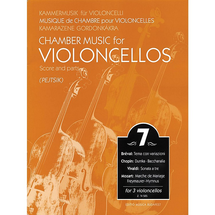 Editio Musica BudapestChamber Music for 3 Violoncellos - Volume 7 EMB Series Composed by Various Arranged by Pejtsik