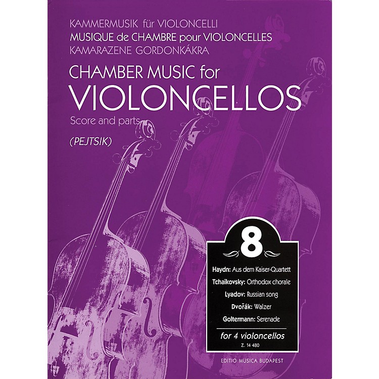 Editio Musica Budapest Chamber Music for 4 Violoncellos - Volume 8 EMB Series Composed by Various Arranged by Pejtsik