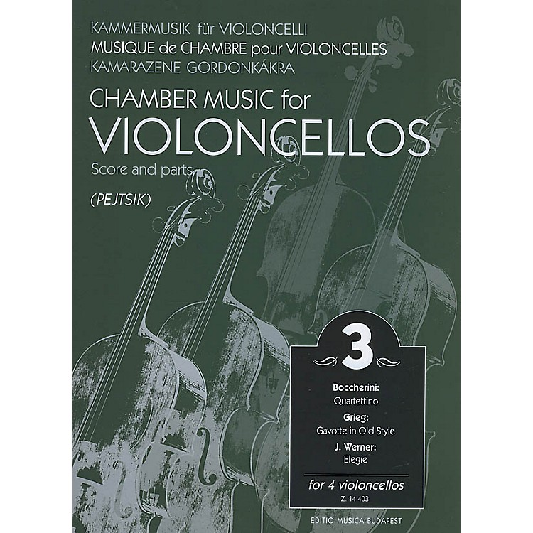 Editio Musica BudapestChamber Music for Four Violoncellos - Volume 3 (Score and Parts) EMB Series Composed by Edvard Grieg