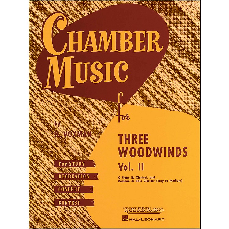Hal Leonard Chamber Music for Three Woodwinds Vol. 2 Easy To Medium Flute/Clarinet/Bassoon/Or Bass Clarinet