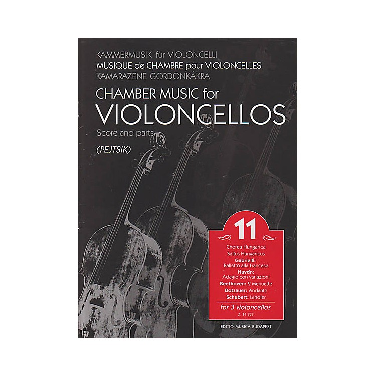 Editio Musica BudapestChamber Music for Violoncellos, Vol. 11 (Three Violoncellos Score and Parts) EMB Series by Various