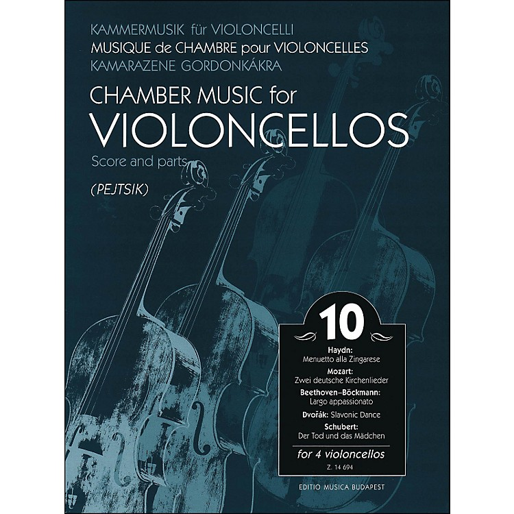 Editio Musica Budapest Chamber Music for Violoncellos Volume 10 Score And Parts (for 4 Cellos)