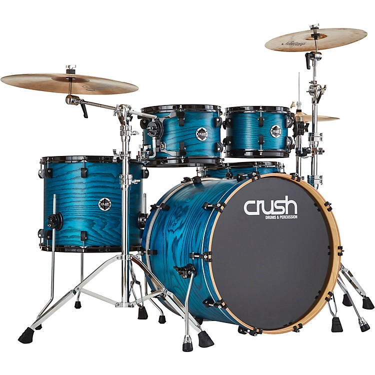Crush Drums & PercussionChameleon Ash 5-Piece Shell Pack with 22 in. Bass DrumTrans Blue