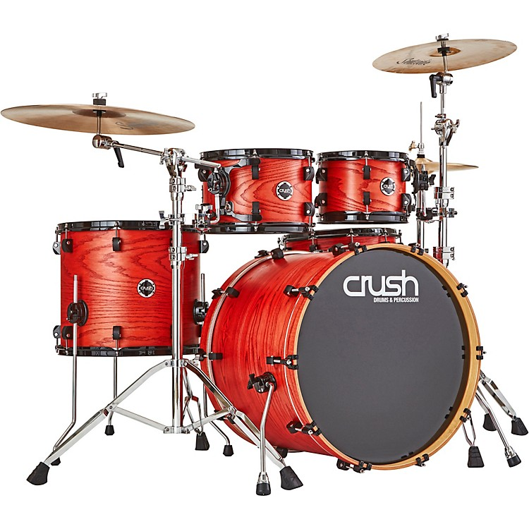 Crush Drums & PercussionChameleon Ash 5-Piece Shell Pack with 22 in. Bass DrumTrans Orange