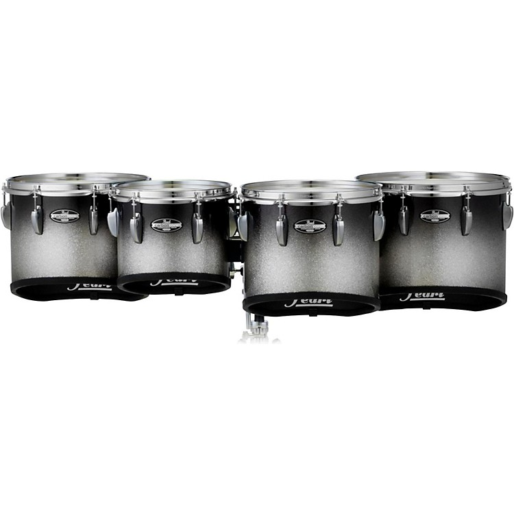 Pearl Championship CarbonCore Marching Tenor Drums Quad Sonic Cut 10, 12, 13, 14 in. Black Silver Burst #368