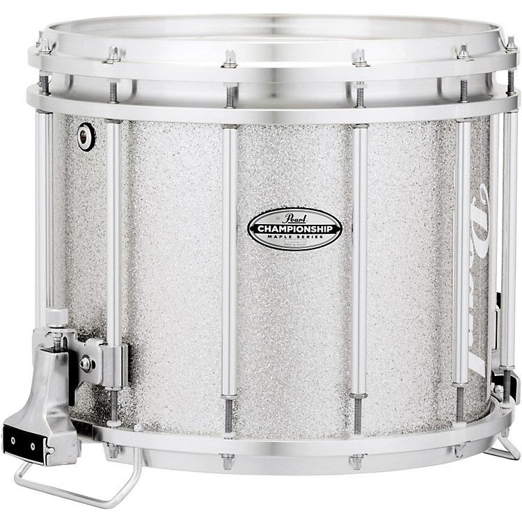 Pearl Championship Maple FFX Marching Snare Drum 14 x 12 in. Silver Sparkle