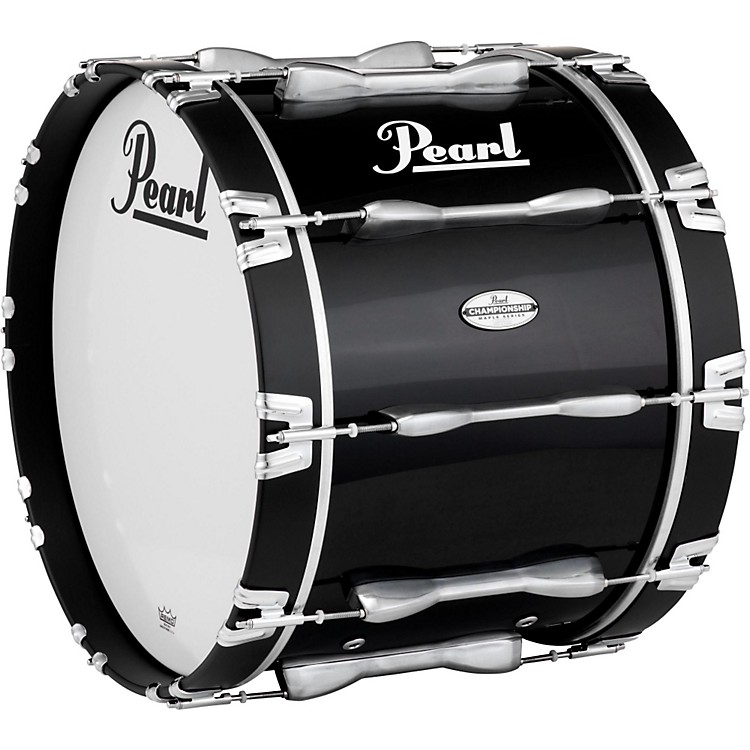 Pearl Championship Maple Marching Bass Drum 20x14 Inch Midnight Black