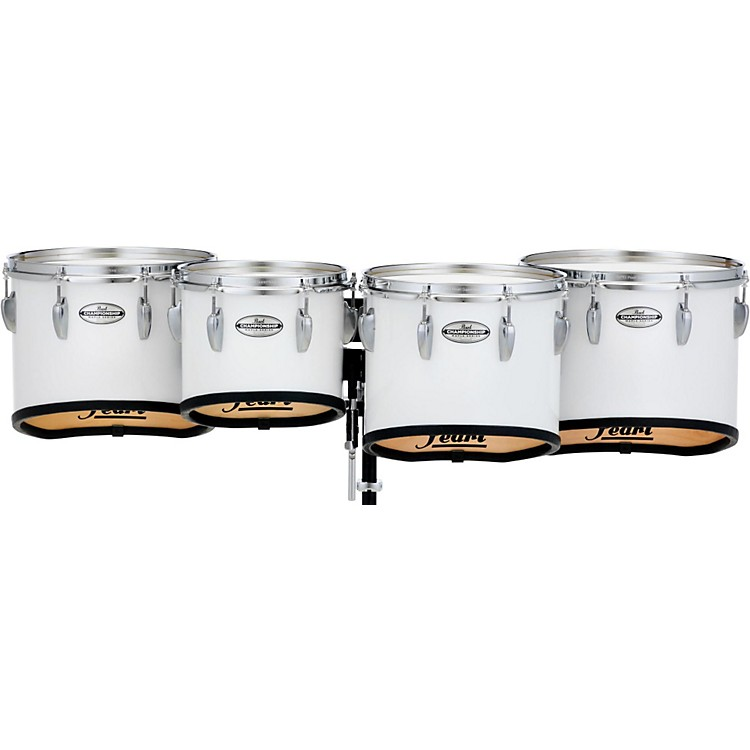 PearlChampionship Maple Marching Tenor Drums Quad Sonic Cut10 in.Pure White