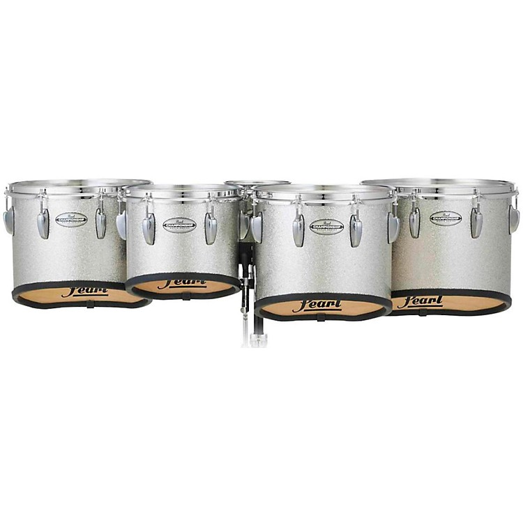 Pearl Championship Maple Marching Tenor Drums Quint Sonic Cut 6, 10, 12, 13, 14 in. Silver Sparkle #360