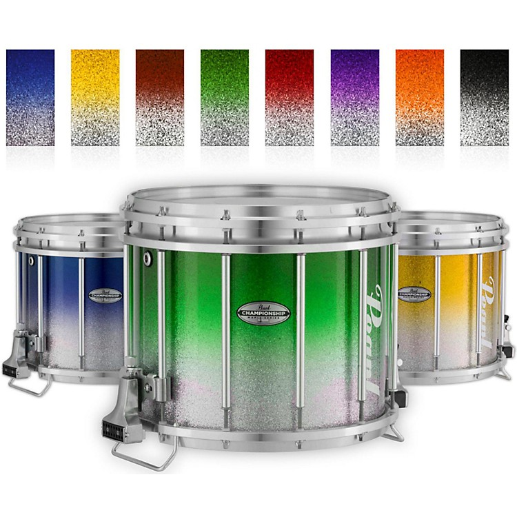 Pearl Championship Maple Varsity FFX Marching Snare Drum Fade Top Finish 14 x 12 in. Green Silver #971