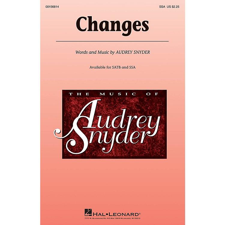 Hal LeonardChanges SSA composed by Audrey Snyder