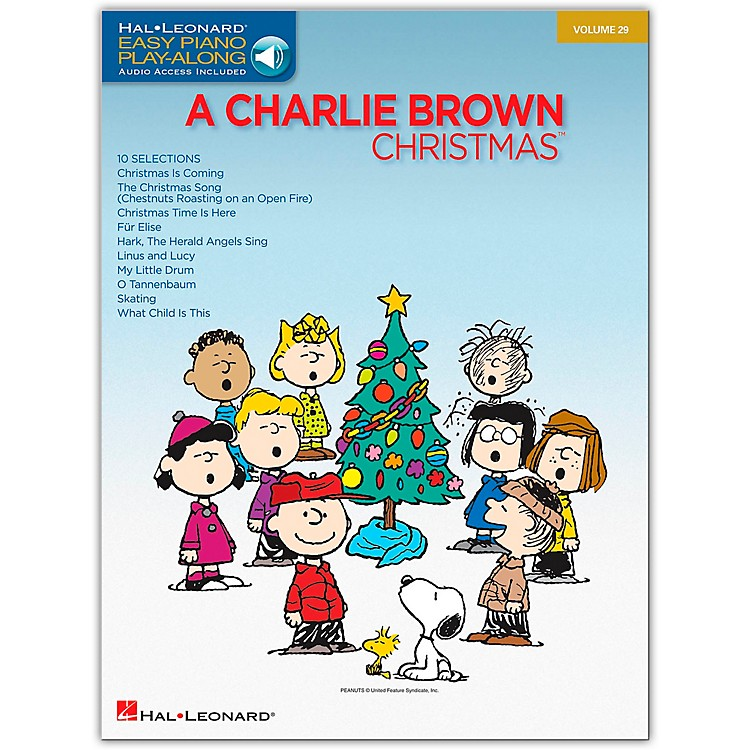Hal Leonard Charlie Brown Christmas - Easy Piano Play-Along Volume 29 (Book/Online Audio)