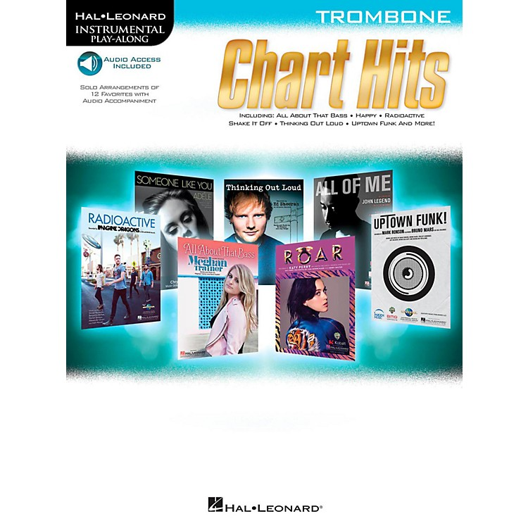 Hal Leonard Chart Hits For Trombone - Instrumental Play-Along (Book/Online Audio)