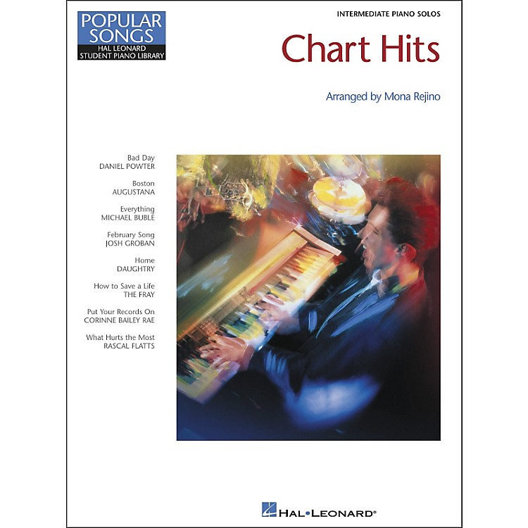 Hal Leonard Chart Hits Intermediate Piano Solos Popular Songs Hal Leonard Student Piano Library by Mona Rejino
