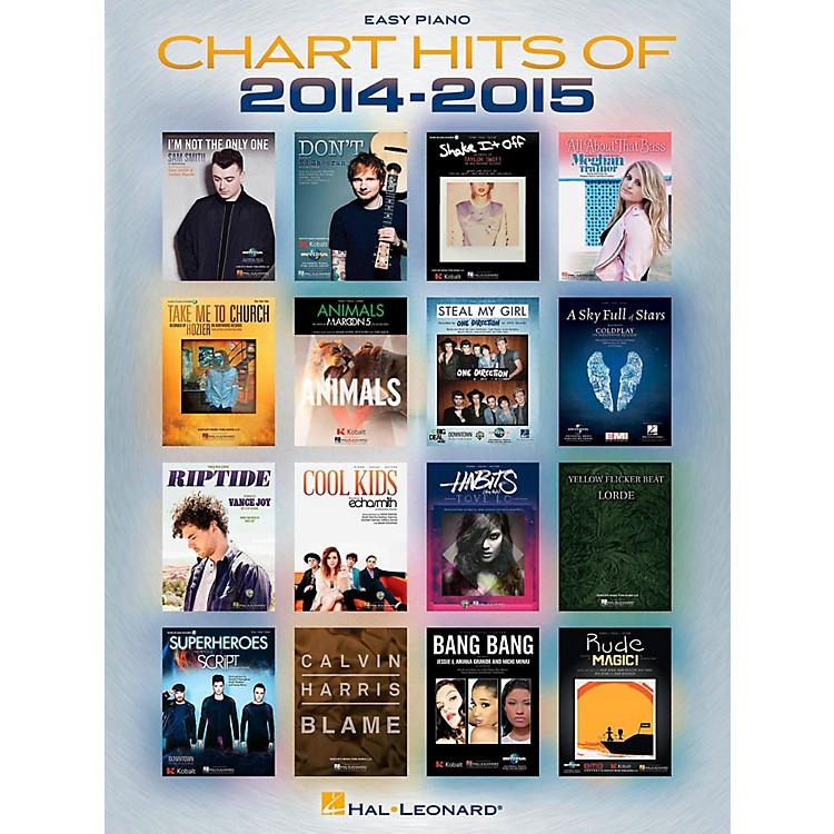 Hal Leonard Chart Hits Of 2014-2015 for Easy Piano