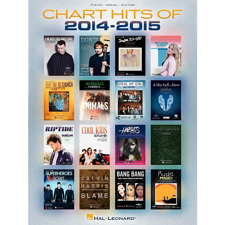 Hal Leonard Chart Hits of 2014-2015 Piano/Vocal/Guitar Songbook