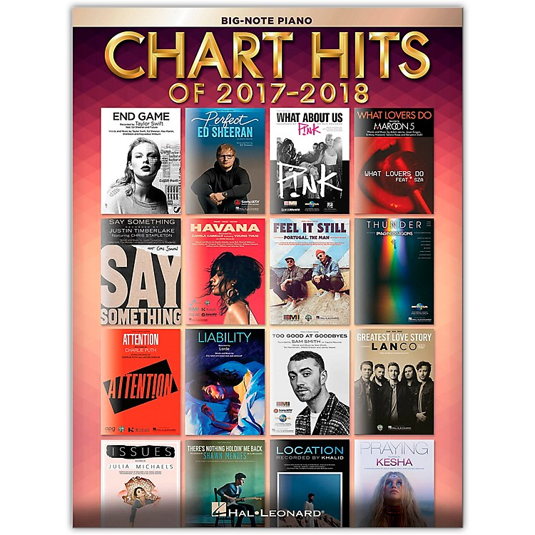Hal LeonardChart Hits of 2017-2018 for Big Note Piano